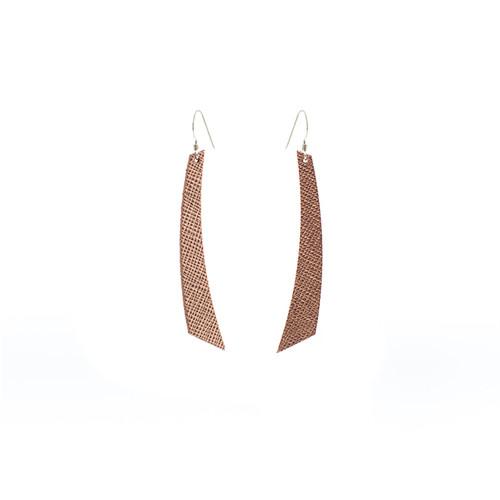Rosé Leather Earrings