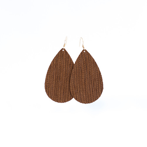 Cedar Grove Leather  Earrings