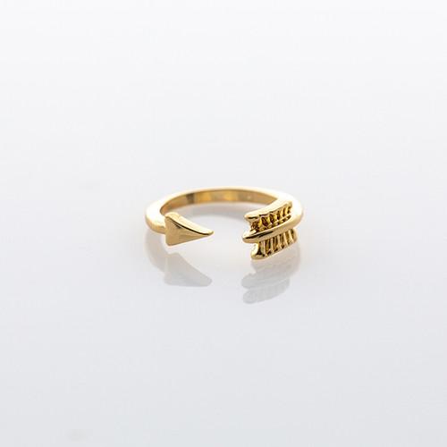 Gold Arrow Midi Ring
