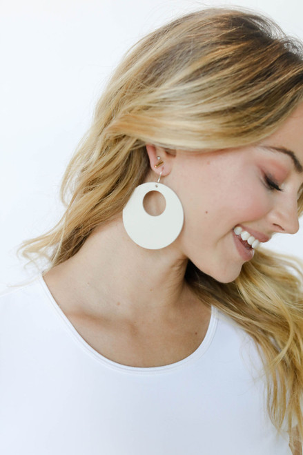 Blank Canvas Nova Leather Earrings