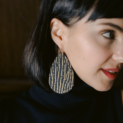 Gold Rush Leather Earrings