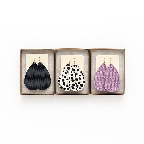 Leather Earring Set   Rise and Shine Essentials