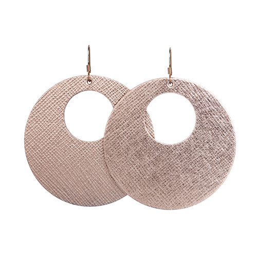Rosé Nova | Leather Earrings Nickel & Suede