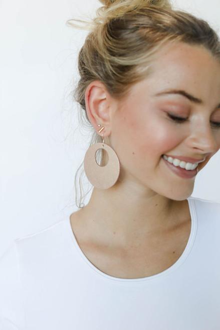 Rosé Nova | Leather Earrings Nickel & Suede