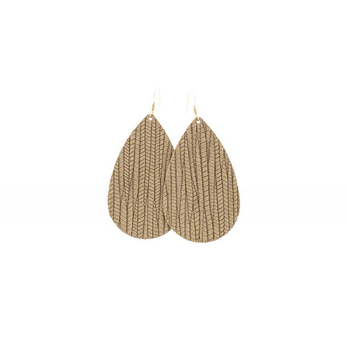 Birch Grove Leather Earrings