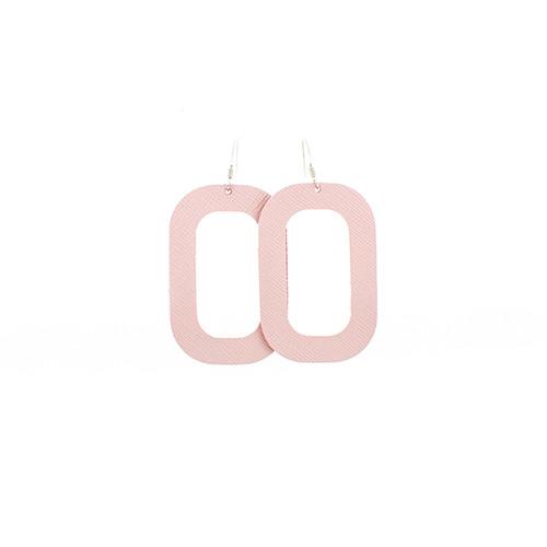 Leather Earrings   Pink Desert Bloch