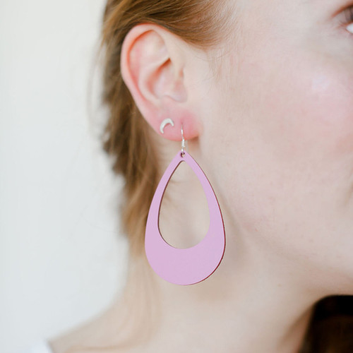 N&S Select Orchid Leather Earrings