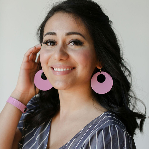 N&S Select Orchid Nova Leather Earrings