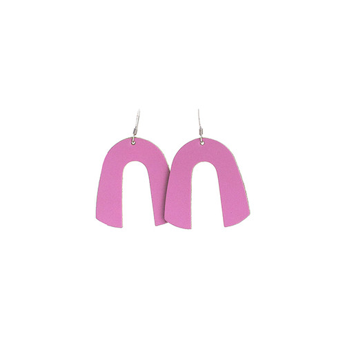 N&S Select Orchid Beau Leather Earrings