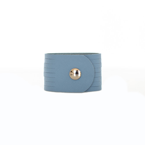Chambray Slit Leather Cuff