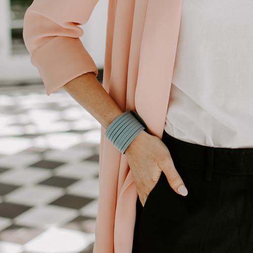 Chambray Slit Leather Cuff