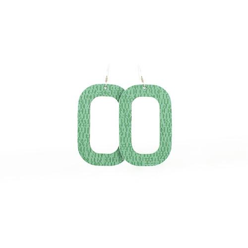 Sea Glass Bloch Leather Earrings
