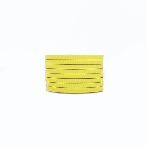Citron Slit Leather Cuff