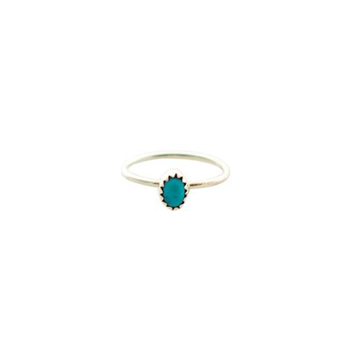 Navajo Artisan Turquoise Burst Ring