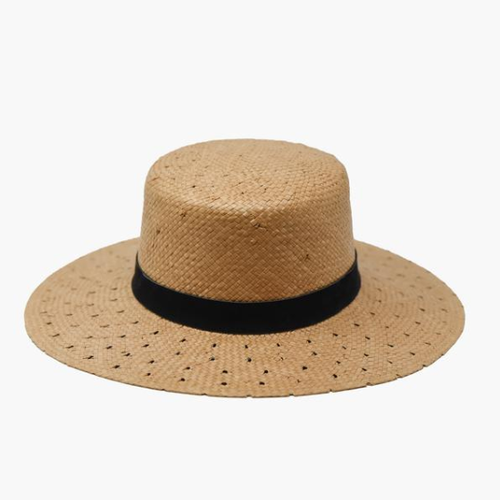 Sascha Patterned Brim Boater