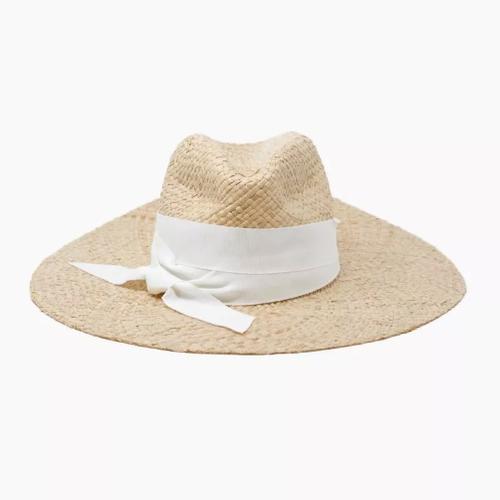 Cara Wide Brim Straw Hat with Ribbon