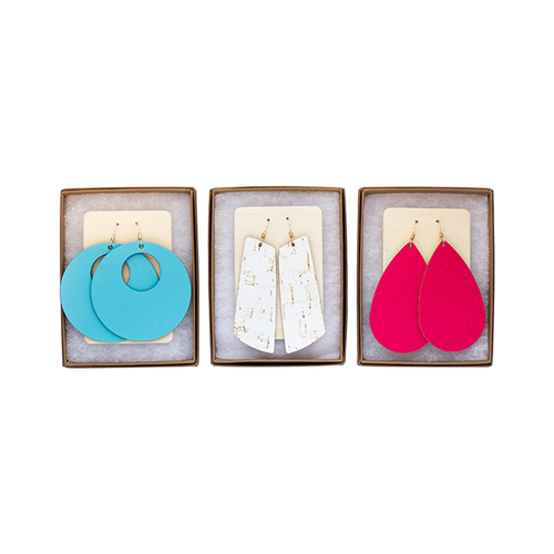 Summer Retreat Essentials Leather Earring Set