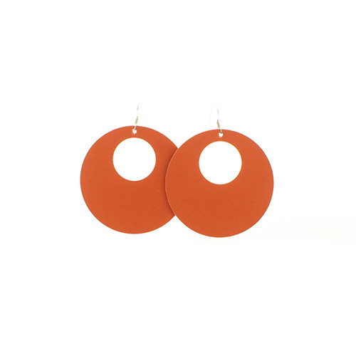 N&S Select Orange Nova Leather Earrings