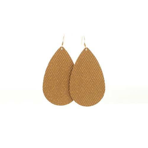 Warm Sand Leather Earrings