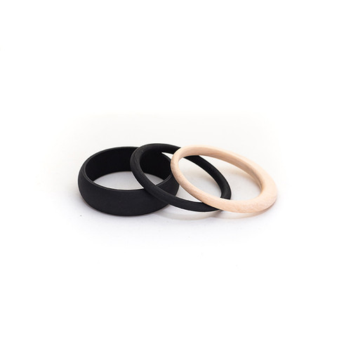 Black Wooden Bangle Set