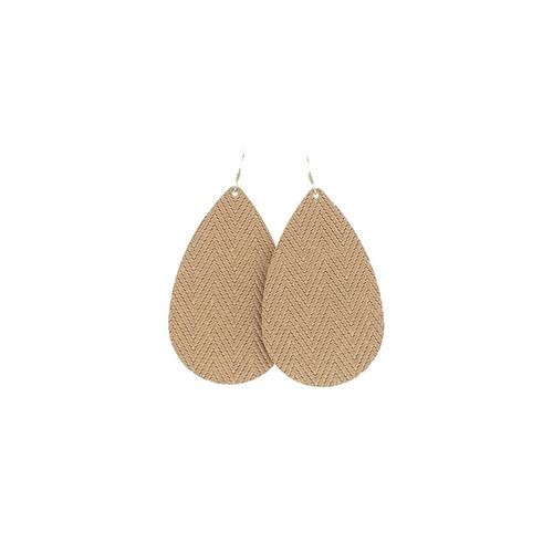 Sandstone Leather Earrings