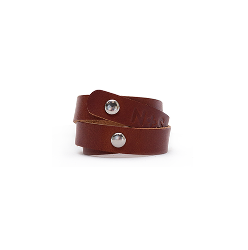 Cognac Wrap Leather Cuff