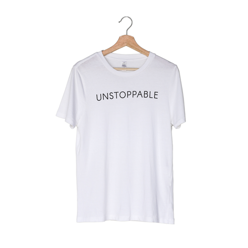 Unstoppable White Tee