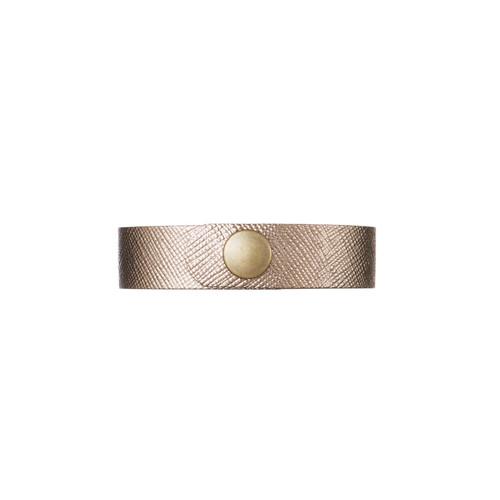 Bronze Leaf Thin Leather Cuff