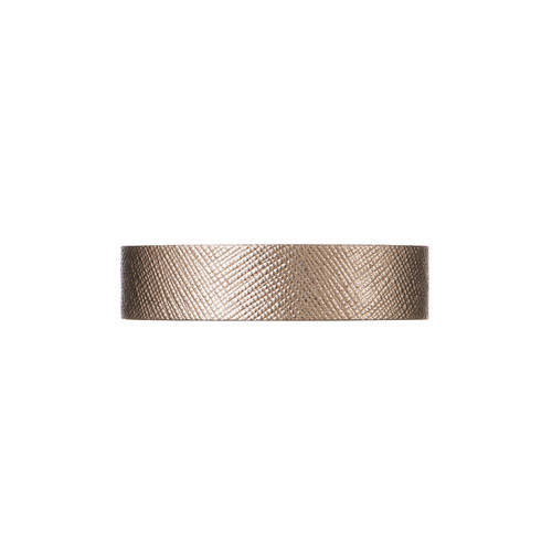 Bronze Leaf Thin Leather Cuff   Nickel and Suede