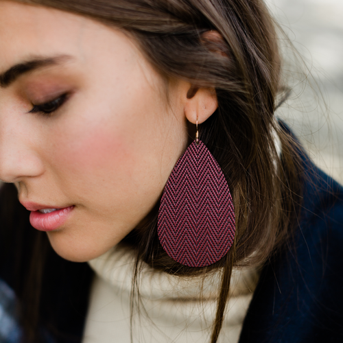 Mulberry Leather Earrings