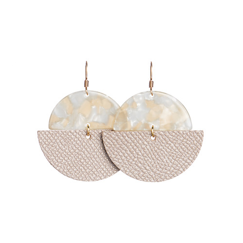Lip Gloss Luna Leather Earring | Nickel and Suede