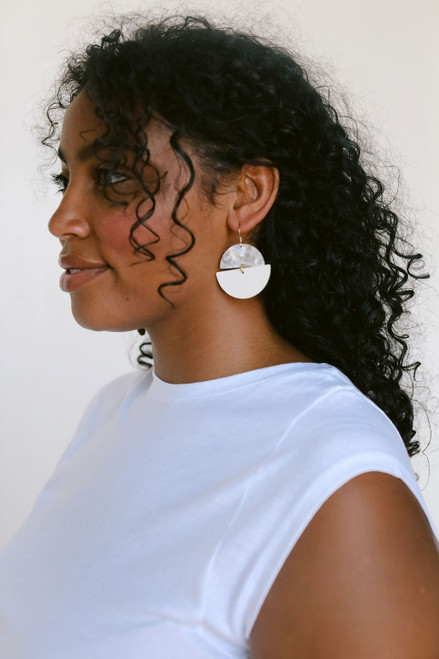 Blank Canvas Luna Leather Earrings