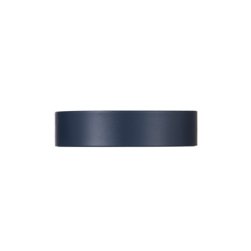 Select Navy Thin Leather Cuff  | Nickel and Suede