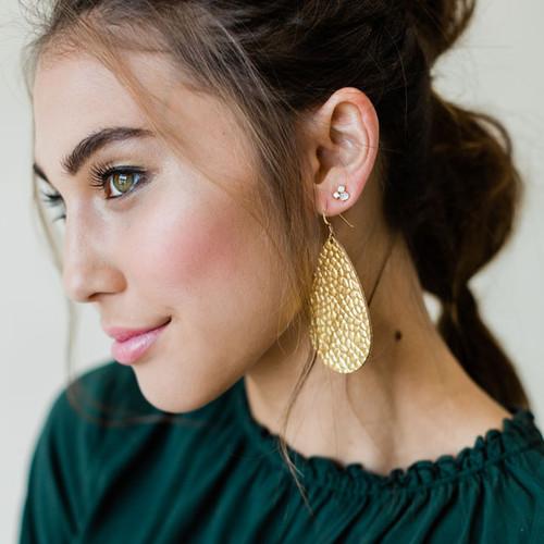 Gem Cluster Stud Earrings