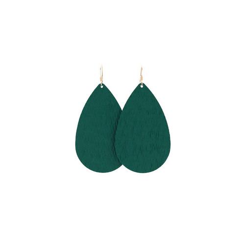 Spruce Leather Earrings