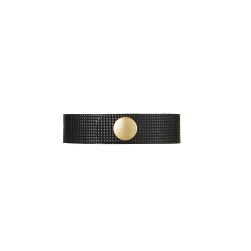Afterglow Thin Leather Cuff | Nickel and Suede
