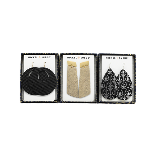 In the Spirit Luxe Leather Earring Set