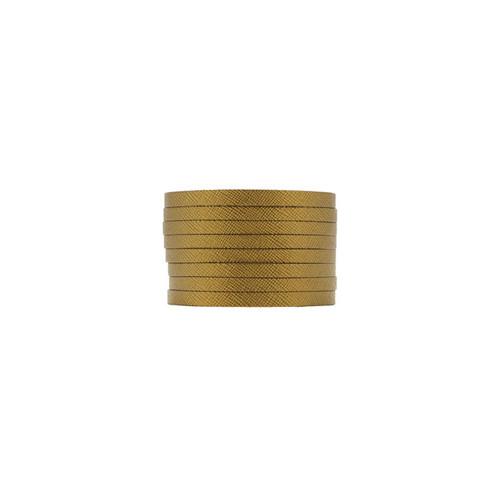 Antique Brass Slit Leather Cuff