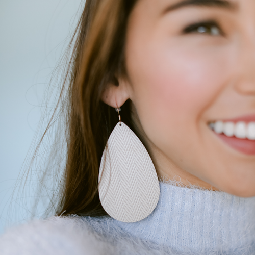 Soft Pearl Leather Earrings