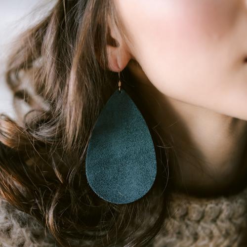 Juniper Suede Leather Earrings