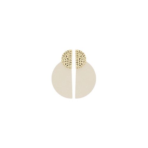 Blank Canvas Demi Leather Statement Earring