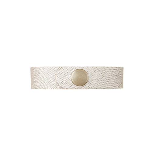 Vanilla Shimmer Thin Leather Cuff | Nickel and Suede