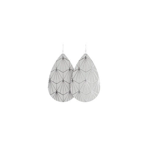 Select Gray & Silver Nouveau Leather Earrings