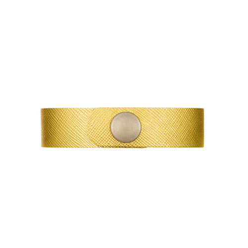 Gold Leaf Thin Leather Cuff | Nickel & Suede