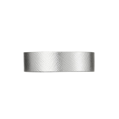 Silver Leaf Thin Leather Cuff | Nickel and Suede