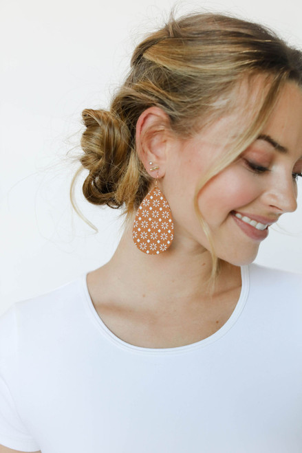 Sedona London Tan Leather Earring
