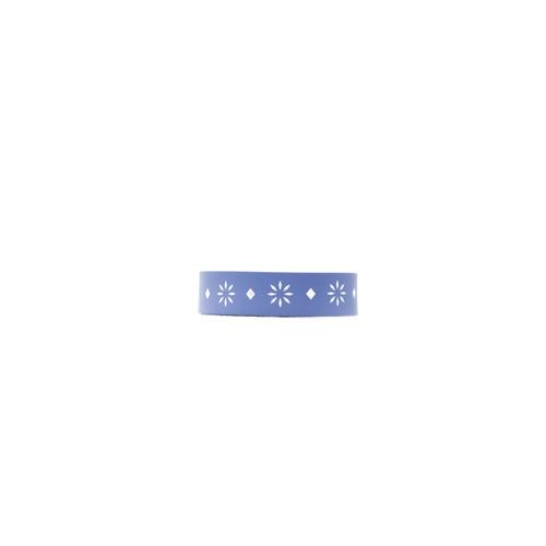 Sedona Cornflower Printed Thin Leather Cuff