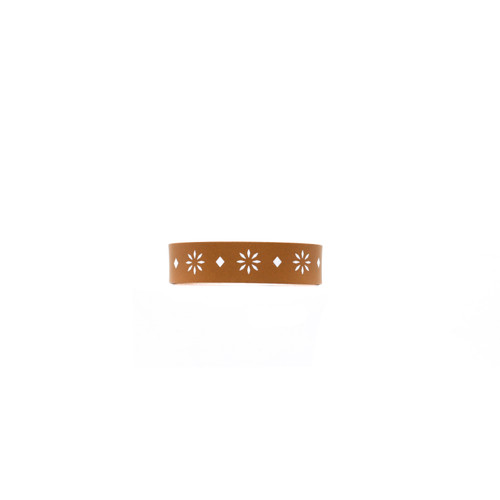 Sedona London Tan Thin Leather Cuff