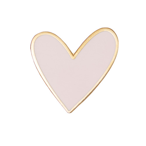 Pink Heart Statement Pin | Nickel and Suede