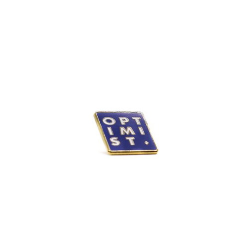 Blue Optimist Statement Pin | Nickel and Suede
